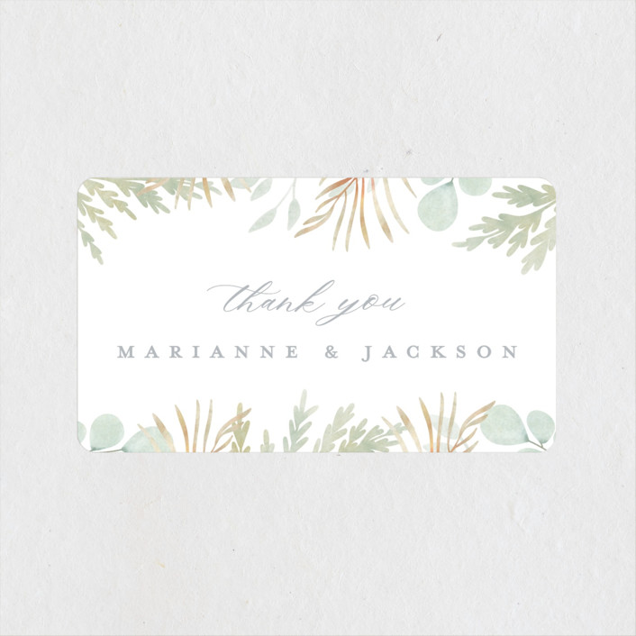 """In The Fall"" - Wedding Favor Stickers in Slate by Ashlee Townsend."