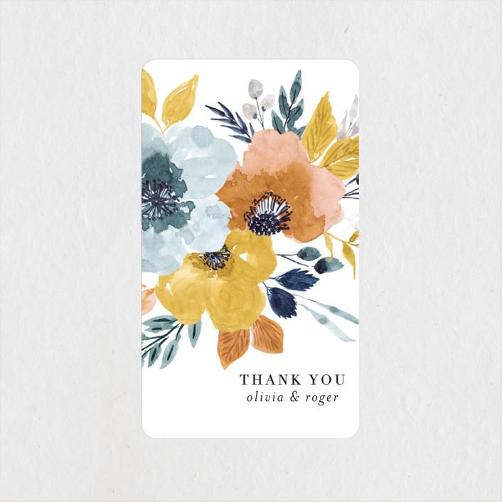 """""""Daydream"""" - Wedding Favor Stickers in Honey by Beth Schneider."""