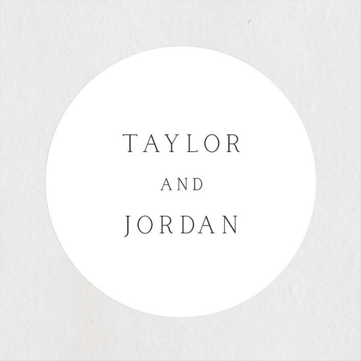 """""""Svelte"""" - Wedding Favor Stickers in Ivory by Fig and Cotton."""