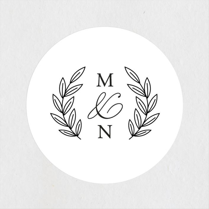 """Organza"" - Wedding Favor Stickers in Linen by Jill Means."