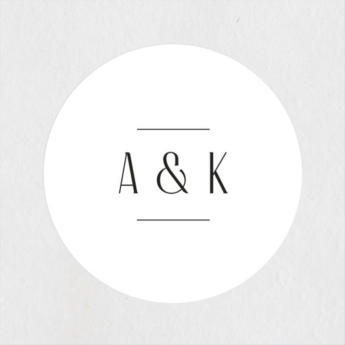 """""""Narrative"""" - Wedding Favor Stickers in Frost by Jennifer Wick."""