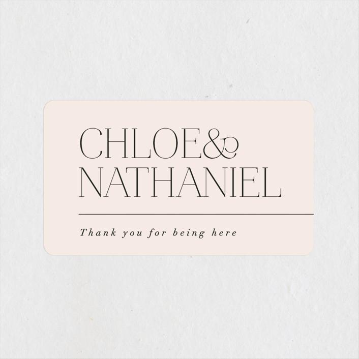 """Landscape"" - Wedding Favor Stickers in Champagne by Kelly Schmidt."