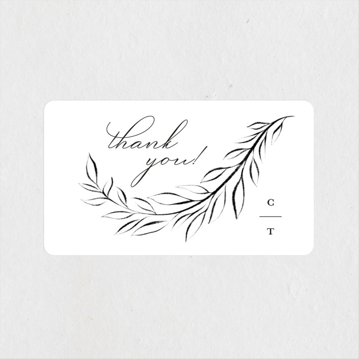 """""""Gilded Edge"""" - Wedding Favor Stickers in Tuxedo by Pink House Press."""