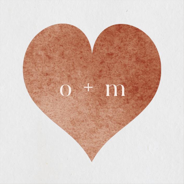 """Autumn Hymnal"" - Wedding Favor Stickers in Blush by Leah Bisch."