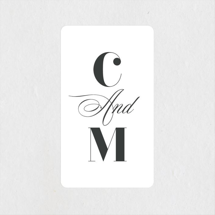 """Gallerian"" - Wedding Favor Stickers in Cloud by Itsy Belle Studio."