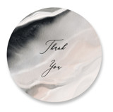 This is a black wedding favor label by Elly called Luxe with standard printing on uncoated sticker paper in sticker.