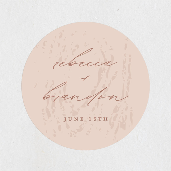 """Rustic Dream"" - Wedding Favor Stickers in Quartz by Beth Murphy."