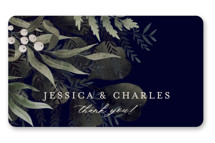 This is a blue wedding favor label by Chris Griffith called wedding nosegay with standard printing on uncoated sticker paper in sticker.