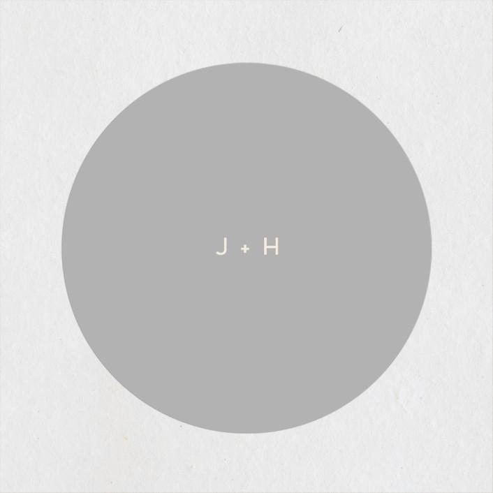 """lili"" - Modern Wedding Favor Stickers in Ash by Lori Wemple."