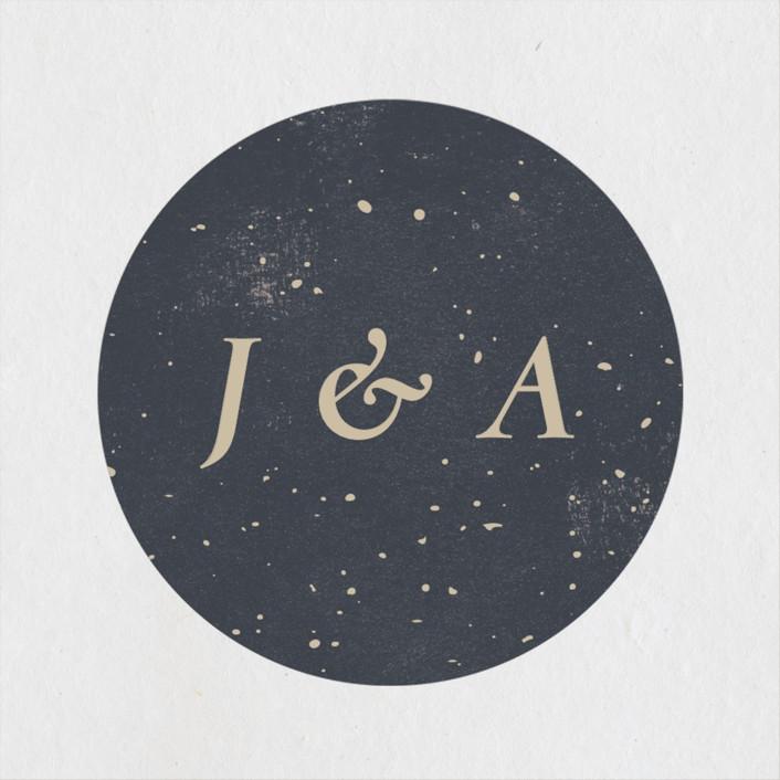 """""""Gemstone"""" - Wedding Favor Stickers in Midnight by Sumak Studio."""