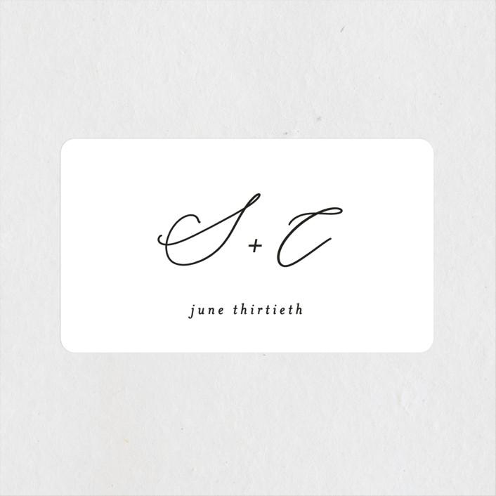 """gloss rings"" - Modern Wedding Favor Stickers in Quartz by Roxanne Fay."