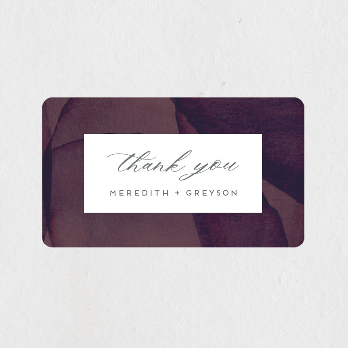 """Petalis"" - Wedding Favor Stickers in Velvet by Christie Garcia."