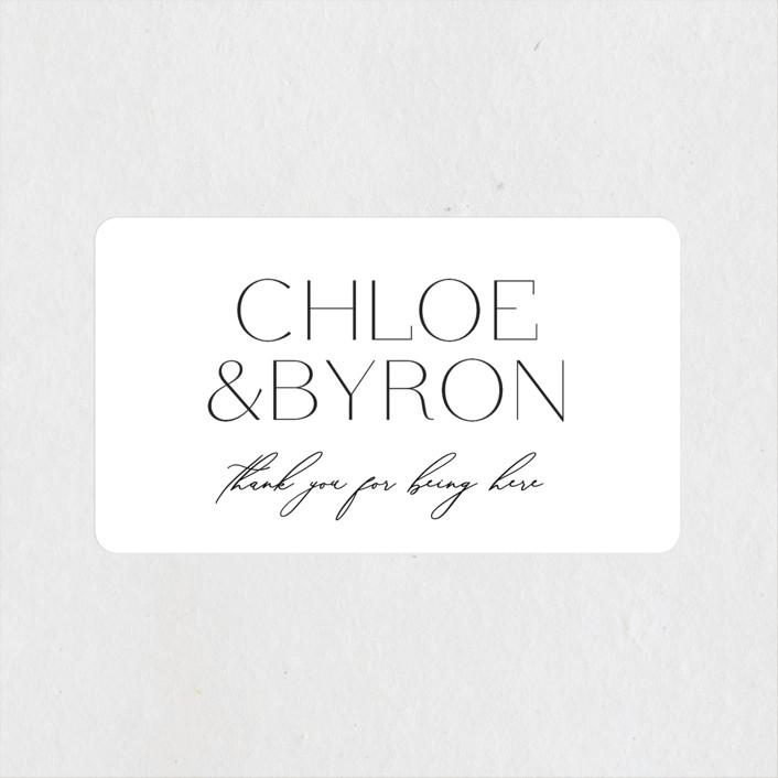 """""""chloe """" - Wedding Favor Stickers in Silk by Kelly Schmidt."""
