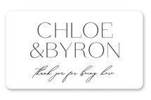 This is a white wedding favor label by Kelly Schmidt called chloe  with standard printing on uncoated sticker paper in sticker.