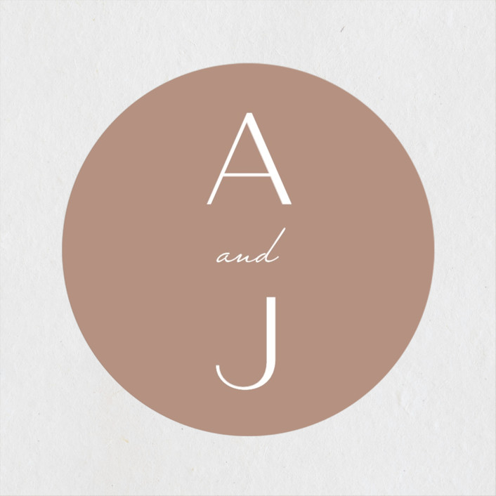 """Eternal Love"" - Wedding Favor Stickers in Rose Dust by Bliss Design Studio."