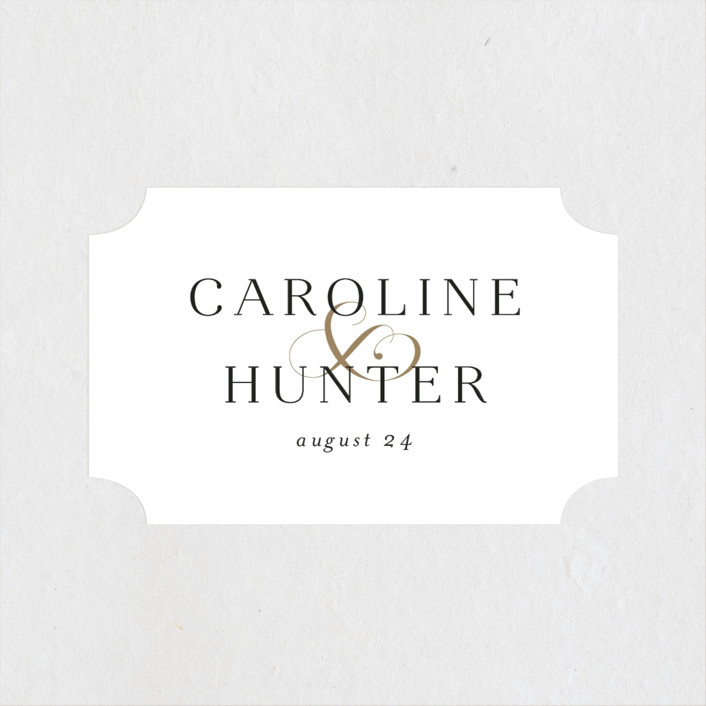 """Entwine"" - Wedding Favor Stickers in Pearl by Jennifer Postorino."