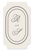 This is a beige wedding favor label by Brianne Larsen called Full Circle with standard printing on uncoated sticker paper in sticker.