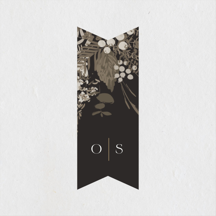 """Garden"" - Wedding Favor Stickers in Mahogany by Leah Bisch."