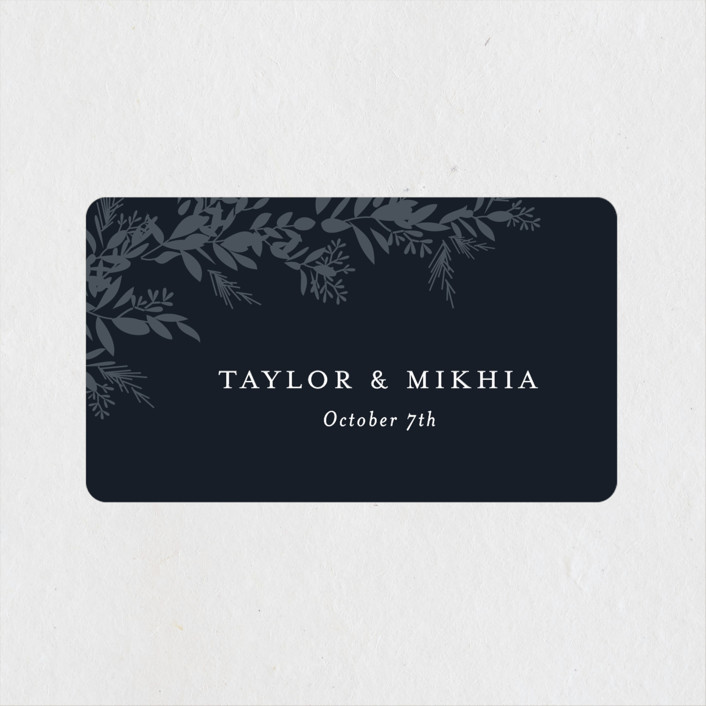 """""""etched wreath"""" - Wedding Favor Stickers in Inkwell by Jennifer Postorino."""