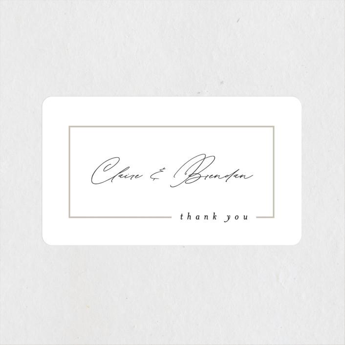 """Gilded Border"" - Wedding Favor Stickers in Silk by Kelly Schmidt."