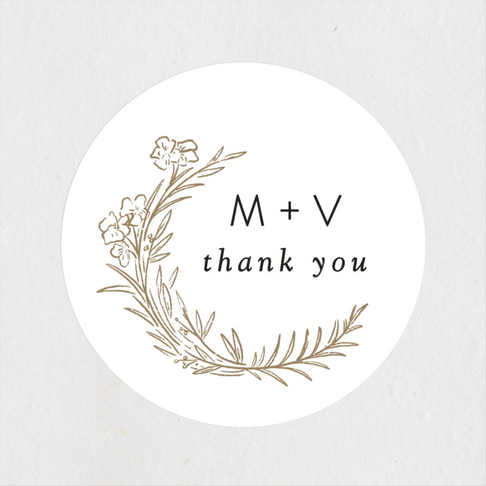 """""""Delicate Woodland"""" - Wedding Favor Stickers in Silk by Shiny Penny Studio."""