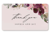 This is a pink wedding favor label by Lori Wemple called Fleur with standard printing on uncoated sticker paper in sticker.