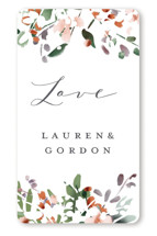 This is a green wedding favor label by Petra Kern called The Field Of Love with standard printing on uncoated sticker paper in sticker.