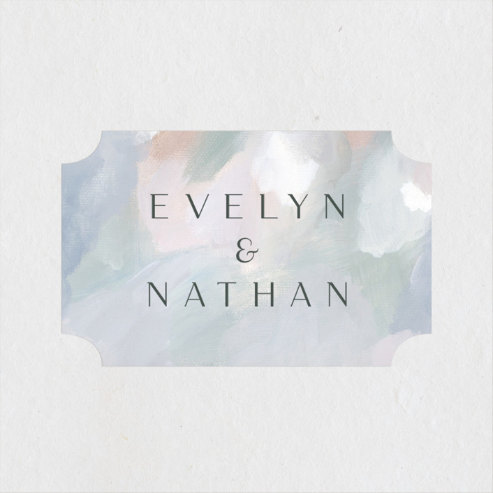 """""""Evelyn"""" - Wedding Favor Stickers in Capri by Nicole Walsh."""