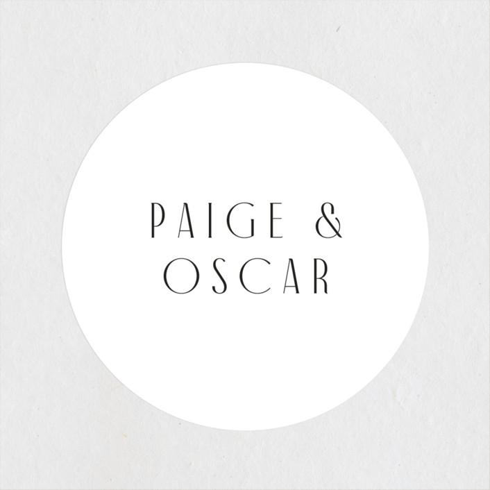 """""""Arcadia"""" - Wedding Favor Stickers in Onyx by Jennifer Wick."""