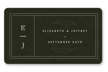 This is a green wedding favor label by Lindsay Stetson Thompson called delicate seal with standard printing on uncoated sticker paper in sticker.