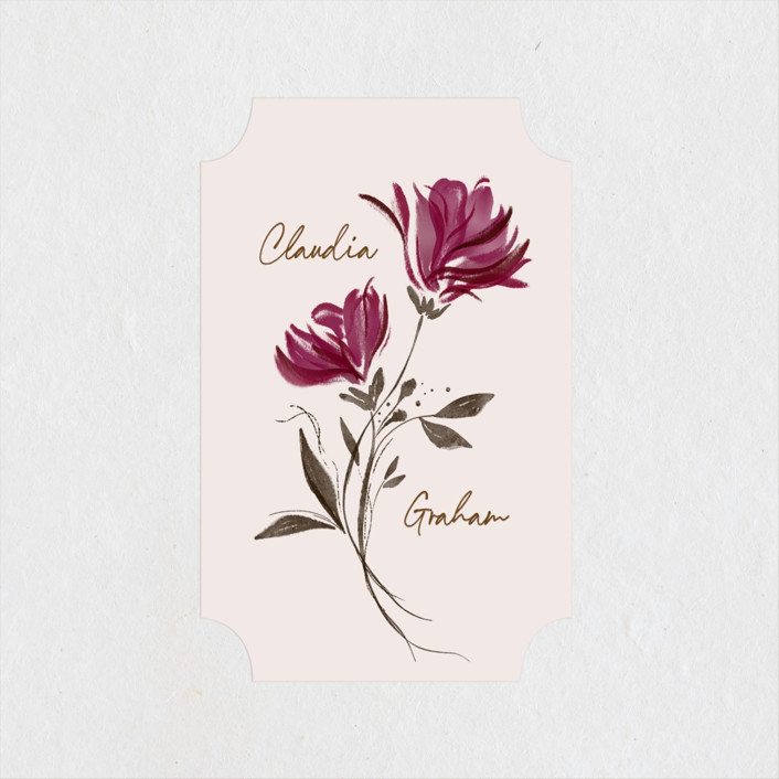 """""""Painterly Florals"""" - Wedding Favor Stickers in Scarlet by Vivian Yiwing."""