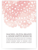 This is a pink diy wedding invitation by Bethany Anderson called Watercolor and Doilies with standard printing on digital paper in digital.