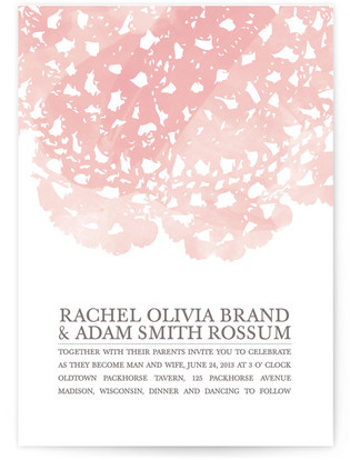 Watercolor and Doilies Print-It-Yourself Wedding Invitations