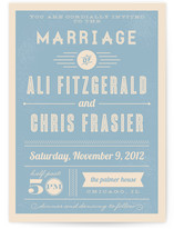 Vintage Retro Type Print-It-Yourself Wedding Invitations