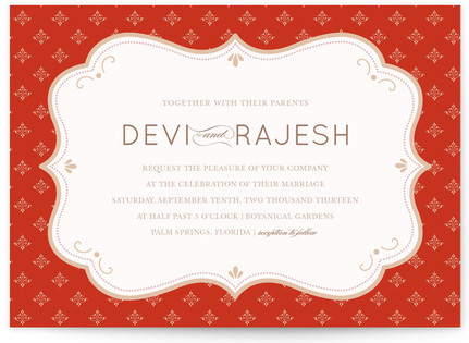 Indian Flair Print-It-Yourself Wedding Invitations