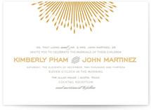 Glam Burst Print-It-Yourself Wedding Invitations