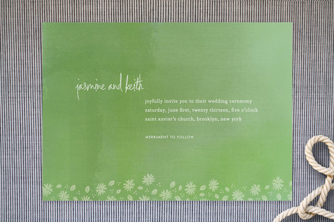 """Liberty Floral"" - Floral & Botanical Print-it-yourself Wedding Invitations in Grass by nocciola design."