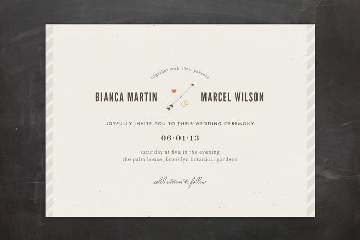"""Newsprint"" - Modern, Simple Print-it-yourself Wedding Invitations in Slate by nocciola design."