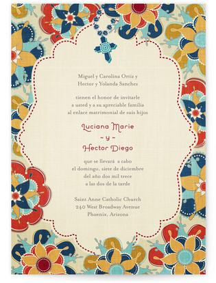 Las Flores Bonitas Print-It-Yourself Wedding Invitations