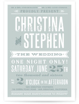 This is a green diy wedding invitation by Paper Dahlia called Woodtype Poster with standard printing on digital paper in digital.