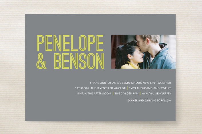 """Something Bold"" - Modern Print-it-yourself Wedding Invitations in Grey by 24th and Dune."
