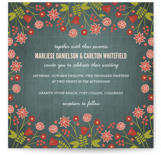 Serendipity Floral Print-It-Yourself Wedding Invitations