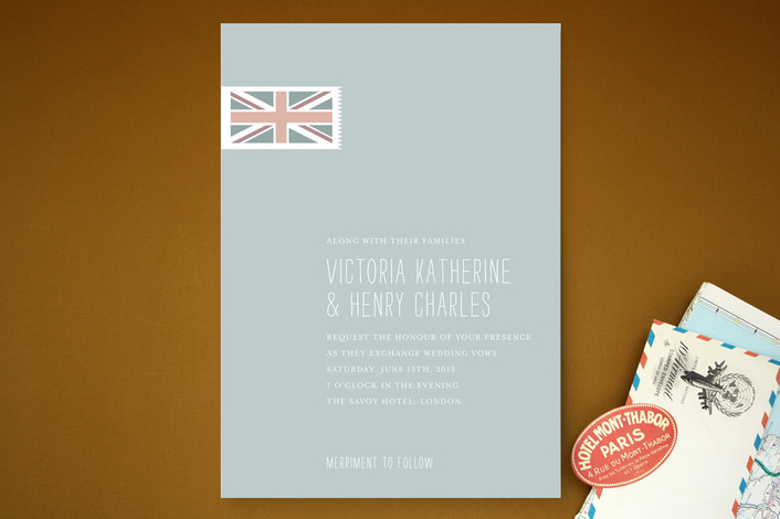 """""""Perfect Union"""" - Destination, Destination Print-it-yourself Wedding Invitations in Slate by Stacey Hill."""