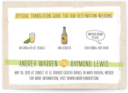 Translation Destination Print-It-Yourself Wedding Invitations