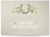 Lucky Horseshoe Print-It-Yourself Wedding Invitations