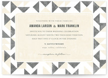 This is a grey diy wedding invitation by SimpleTe Design called Triangle Flirtation with standard printing on digital paper in digital.