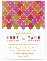 This is a pink diy wedding invitation by Bonjour Paper called A Wedding in Marrakesh with standard printing on digital paper in digital.