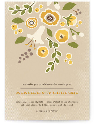 Summer's End Print-It-Yourself Wedding Invitations