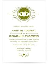 Contemporary Claddagh Print-It-Yourself Wedding Invitations