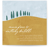 This is a yellow diy wedding invitation by Erin Pescetto called Tuscan Hill with standard printing on digital paper in digital.